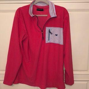 Southern Marsh Pink Pocket Half Zip Pullover